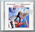 007 : A VIEW TO A KILL Original CD Soundtrack (front)