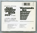 007 : DIAMONDS ARE FOREVER Original CD Soundtrack (back)