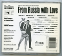 007 : FROM RUSSIA WITH LOVE Original CD Soundtrack (back)