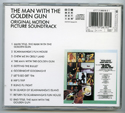 007 : THE MAN WITH THE GOLDEN GUN Original CD Soundtrack (back)