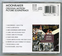 007 : MOONRAKER Original CD Soundtrack (back)