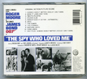 007 : THE SPY WHO LOVED ME Original CD Soundtrack (back)