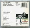 007 : THUNDERBALL Original CD Soundtrack (back)