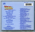 BACK TO THE FUTURE Original CD Soundtrack (back)