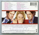 BRIDGET JONES'S DIARY Original CD Soundtrack (back)