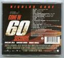 GONE IN 60 SECONDS Original CD Soundtrack (back)