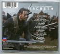 MACBETH Original CD Soundtrack (back)