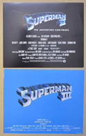 Superman II & III <p><a> 2 Original Front Of House Stills / Lobby Cards </i></p>