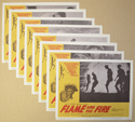 Flame and the Fire <p><a> Set Of 8 Cinema Lobby Cards </i></p>