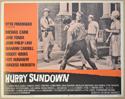 HURRY SUNDOWN (Card 2) Cinema Lobby Card Set