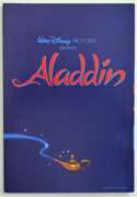 ALADDIN – Synopsis / Credits Booklet – Front