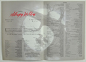 SLEEPY HOLLOW – Synopsis / Credits Booklet - Back
