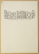 BOYZ N THE HOOD Original Cinema Press Kit – Production Info