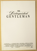 DISTINGUISHED GENTLEMAN Original Cinema Press Kit – Production Info