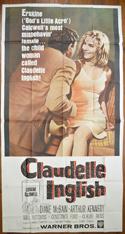 CLAUDELLE INGLISH – 3 Sheet Poster