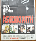 THE PSYCHOPATH – 3 Sheet Poster (BOTTOM)
