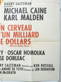 BILLION DOLLAR BRAIN (Bottom Right) Cinema French Grande Movie Poster