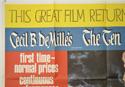 THE TEN COMMANDMENTS (Top Left) Cinema Quad Movie Poster