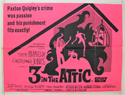 3 IN THE ATTIC Cinema Quad Movie Poster