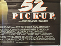 52 PICK-UP (Bottom Right) Cinema Quad Movie Poster