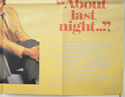 ABOUT LAST NIGHT (Bottom Right) Cinema Quad Movie Poster