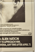 ALIEN NATION (Bottom Right) Cinema Double Crown Movie Poster