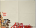 ALLAN QUATERMAIN AND THE LOST CITY OF GOLD (Top Right) Cinema Quad Movie Poster