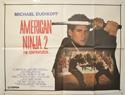 AMERICAN NINJA 2 Cinema Quad Movie Poster