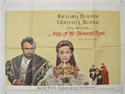 ANNE OF THE THOUSAND DAYS Cinema Quad Movie Poster