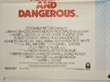 ARMED AND DANGEROUS (Bottom Left) Cinema Quad Movie Poster