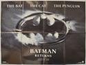BATMAN RETURNS Cinema Quad Movie Poster