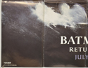 BATMAN RETURNS (Bottom Left) Cinema Quad Movie Poster