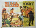 THE BLACK BUCCANEER  / MASTER SPY Cinema Quad Movie Poster