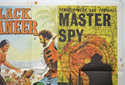 THE BLACK BUCCANEER  / MASTER SPY (Top Right) Cinema Quad Movie Poster