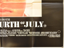 BORN ON THE FOURTH OF JULY (Bottom Right) Cinema Quad Movie Poster
