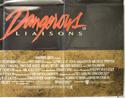 DANGEROUS LIAISONS (Bottom Right) Cinema Quad Movie Poster