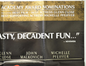 DANGEROUS LIAISONS (Top Right) Cinema Quad Movie Poster