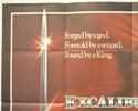 EXCALIBUR (Top Left) Cinema Quad Movie Poster