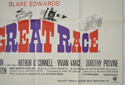 THE GREAT RACE (Bottom Right) Cinema Quad Movie Poster
