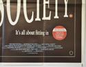 SOCIETY (Bottom Right) Cinema Quad Movie Poster