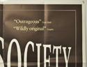 SOCIETY (Top Right) Cinema Quad Movie Poster