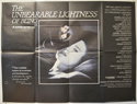 THE UNBEARABLE LIGHTNESS OF BEING Cinema Quad Movie Poster