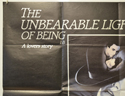 THE UNBEARABLE LIGHTNESS OF BEING (Top Left) Cinema Quad Movie Poster
