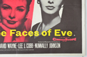 THE THREE FACES OF EVE (Bottom Right) Cinema Quad Movie Poster