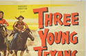 THREE YOUNG TEXANS (Top Right) Cinema Quad Movie Poster