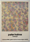 Peter Hahne : Paintings Exhibition <p><i> 1984 Exhibition Poster for the Gallery Wallner Sweden </i></p>