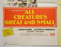 ALL CREATURES GREAT AND SMALL / BEAUTIFUL PEOPLE (Bottom Left) Cinema Quad Movie Poster