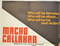 MACHO CALLAHAN / RIDER ON THE RAIN (Top Left) Cinema Quad Movie Poster