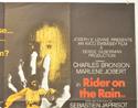 MACHO CALLAHAN / RIDER ON THE RAIN (Top Right) Cinema Quad Movie Poster
