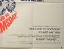 ONE HOUR TO DOOMSDAY (Bottom Right) Cinema Quad Movie Poster